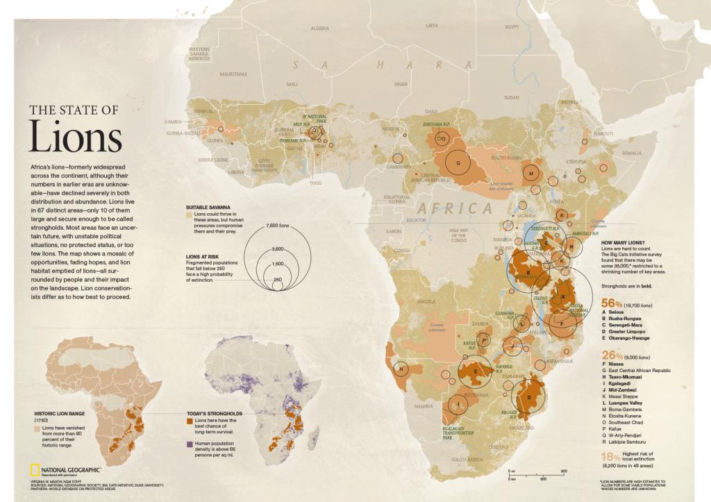 Nat Geo lion map