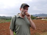 Smoking a cigar in Cuba (February 2015)