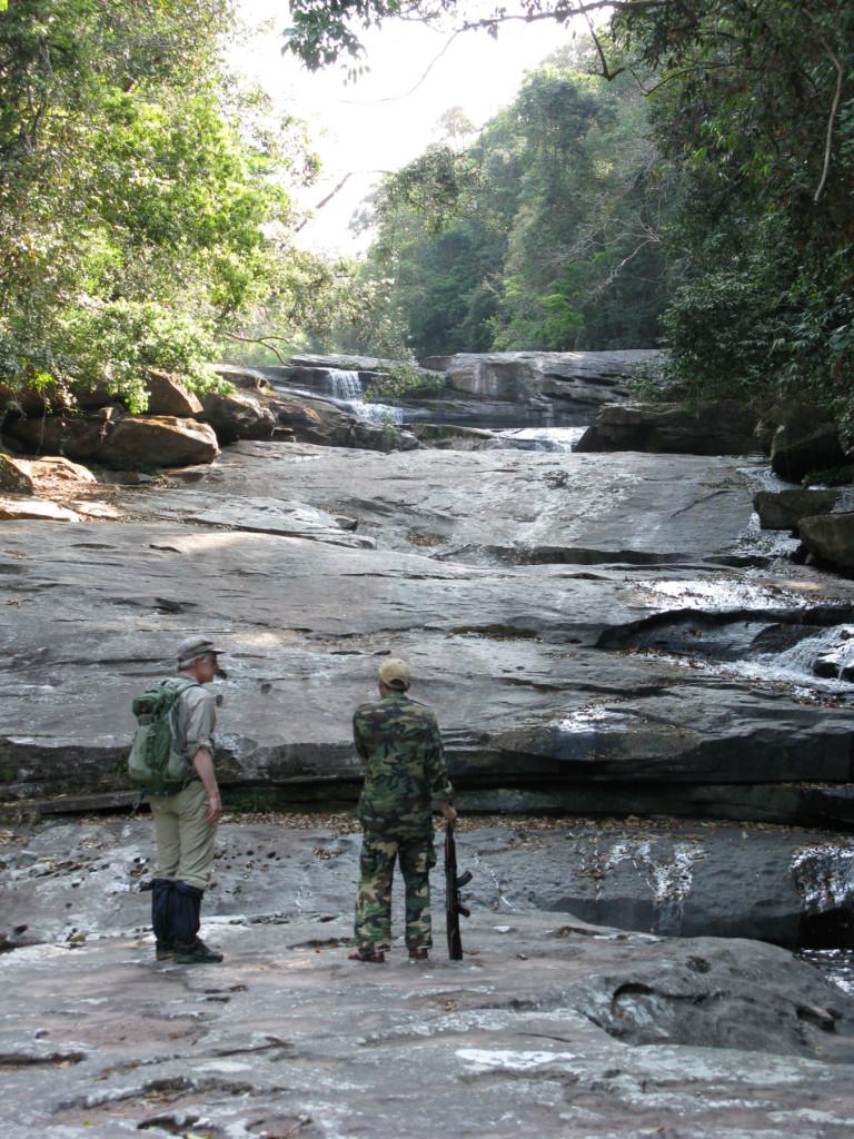 Climbing a Nam Nyang tributary