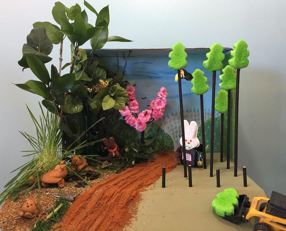 Diorama: Pup Sniffs Poops, Prof Tracks Peeps