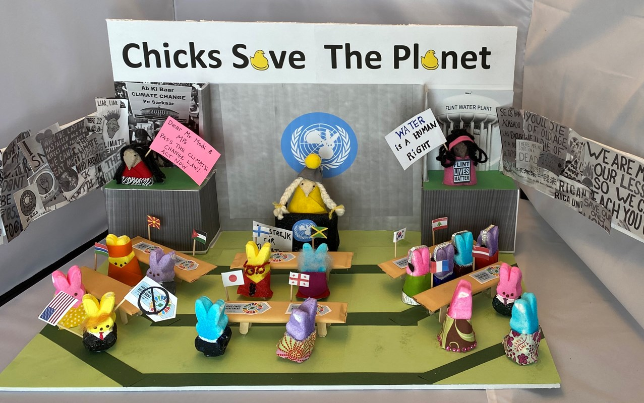 Diorama: Chicks Save the Planet