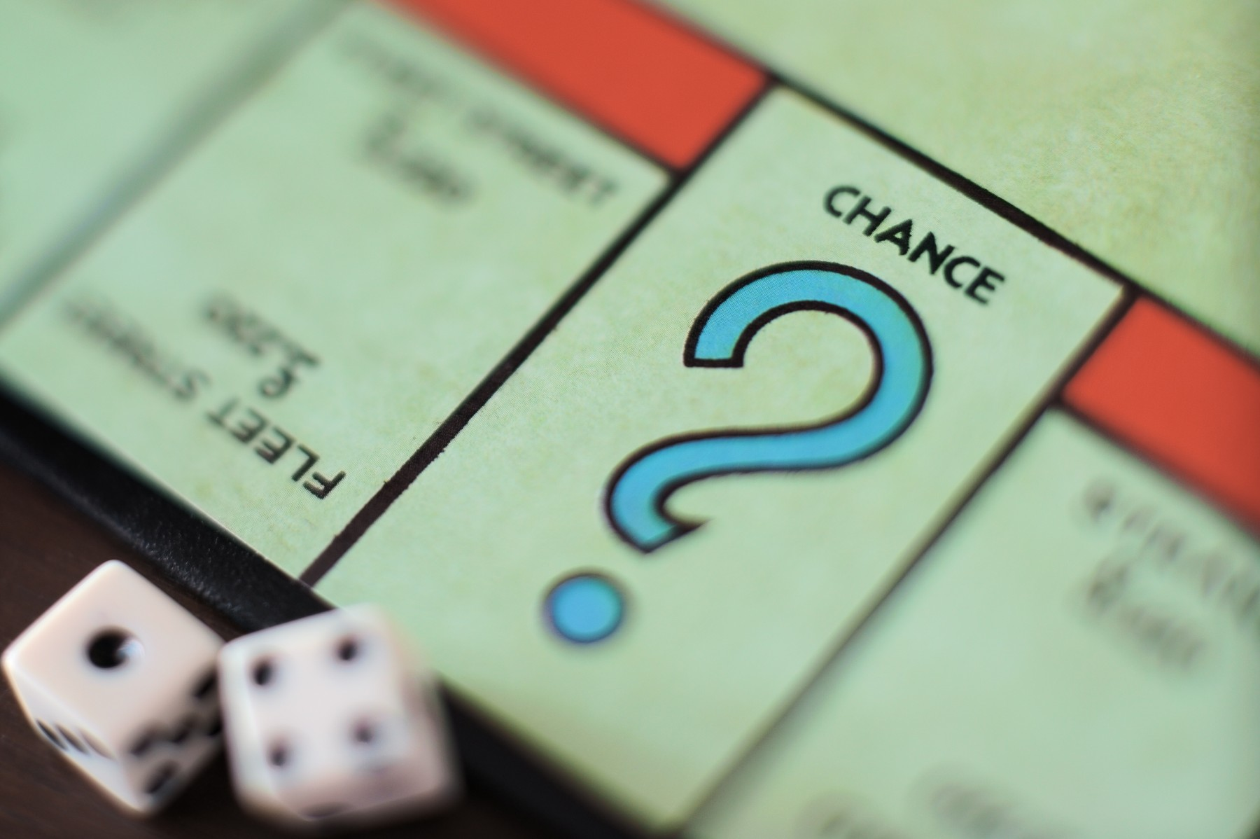 Chance space on a Monopoly board